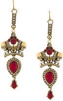 Alexander McQueen crown and skull drop earrings