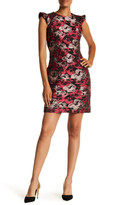 Donna Ricco Ruffle Belted Dress