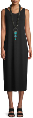 Eileen Fisher Plus Size Jersey Scoop-Neck Midi Dress
