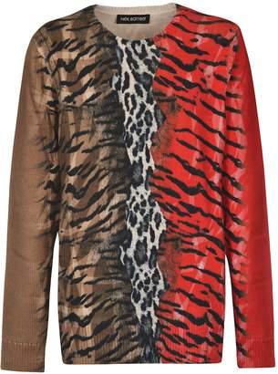 Neil Barrett Animal Print Pullover