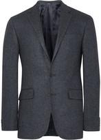 Polo Ralph Lauren Blue Slim-Fit Herringbone Wool and Silk-Blend Blazer