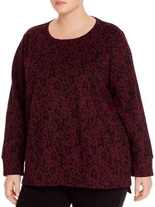 Andrew Marc Plus Jaguar-Print Sweatshirt