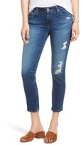 AG Jeans Women's Prima Distressed Crop Cigarette Jeans