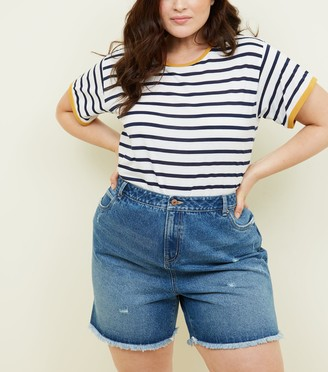 New Look Curves Denim Shorts