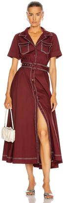 STAUD Millie Dress in Bordeaux | FWRD