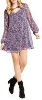 BCBGeneration Floral-Print Cutout Shift Dress