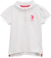 U.S. Polo Assn. White Polo - Girls