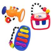 Sassy ; Eye and Hand Coordination Toy Musical Gift Set - Multi-Colored