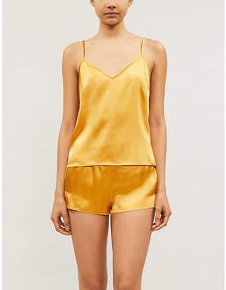 Selfridges Oh organic silk-satin pyjama shorts