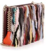 Christian Louboutin Triloubi large multi coloured fur bag
