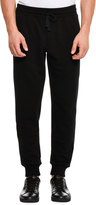 Dolce & Gabbana Bee & Crown Embroidered Sweatpants, Black