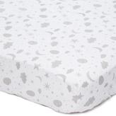 SpaSilk Gray Celestial Standard Fitted Crib Sheet