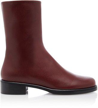 Marina Moscone Leather Chelsea Boots