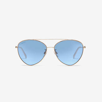 Bally Sunkist Triangle Frame Sunglasses
