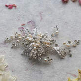 Ophelia Anusha Crystal And Pearl Hair Comb