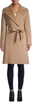 Cinzia Rocca Virgin Wool & Cashmere Wrap Coat