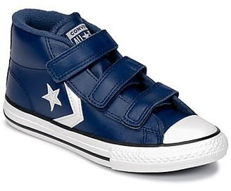 Converse STAR PLAYER 3V MID girls's Shoes (High-top Trainers) in Blue