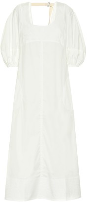 Lee Mathews Sara cotton-blend poplin maxi dress