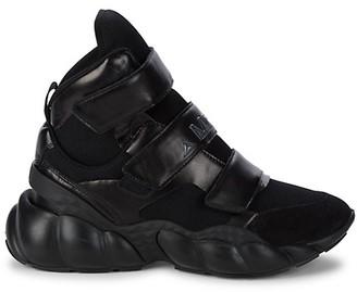 MCM Himmel Mixed Media High-Top Sneakers