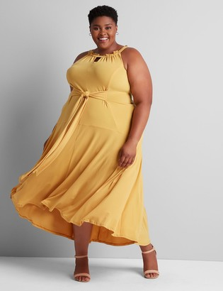 Lane Bryant Seamed Tie-Waist Maxi Dress
