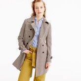 J.Crew Icon trench coat in plaid Italian wool