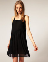 Asymmetric Strappy Frill Dress