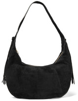 Elizabeth and James Zoe Large Tasseled Suede Shoulder Bag - Black