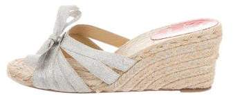 Christian Louboutin Metallic Espadrille Sandals