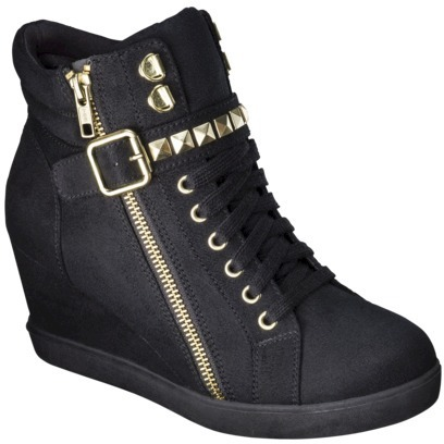 Mossimo Women's Kady High Top Sneaker Wedge - Black