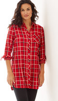 J. Jill Plaid Double-Cloth Long Tunic