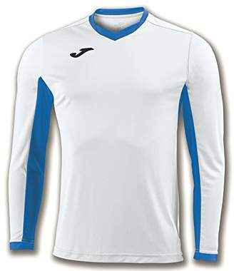Joma Champion Iv M/L - Equipment T-Shirt Man, Mens, 100779.207_S, White/Royal Blue, S
