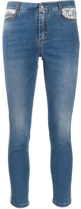 Ermanno Scervino High Rise Cropped Jeans