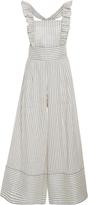 Luisa Beccaria Striped Linen-Blend Jumpsuit