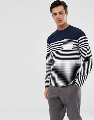 Barbour Triton striped long sleeve top in navy