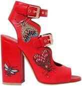 Laurence Dacade 90mm Nelen Eden Beaded Leather Sandals