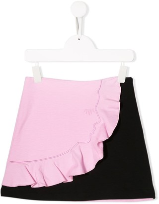 Vivetta Kids Face A-Line Skirt
