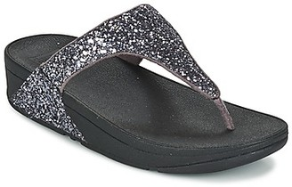 FitFlop GLITTERBALL TOE POST women's Flip flops / Sandals (Shoes) in Silver