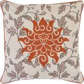 "Surya Smithsonian by SI-2000 Hand Crafted 100% Cotton 18"" x 18"" Floral Decorative Pillow"