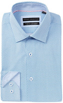 Report Collection Oxford Geo Print Slim Fit Dress Shirt