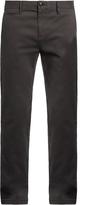 Burberry Slim-leg cotton-blend chino trousers