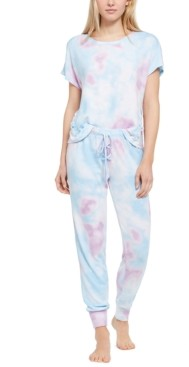 Jenni Printed Lace-Up Detail Pajama Set, Created for Macy's
