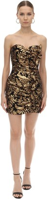 Giuseppe di Morabito Strapless Sequined Mini Dress