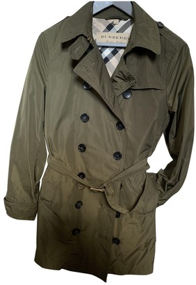 Burberry Green Trench Coat for Women