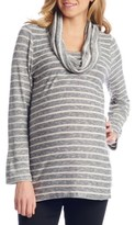 Everly Grey Women's Reina Cowl Neck Maternity/nursing Top