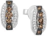 LeVian Le Vian Chocolatier Diamond Oval Stud Earrings (1/2 ct. t.w.) in 14k White Gold