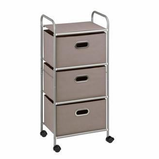 Honey-Can-Do CRT-06248 3 Drawer Rolling cart Gray 11.5 in L x 16.125 in W x 35.5 in H (29.2 cm L x 41 cm W x 90.2 cm H)