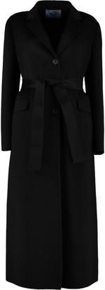 Prada Single-breasted Long Coat