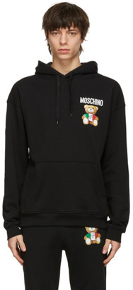 Moschino Black Toy Italian Teddy Bear Hoodie