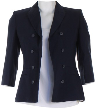 HUGO BOSS Navy Wool Jackets