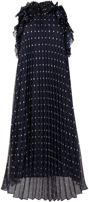 P.A.R.O.S.H. Polka Dot-Print Pleated Dress